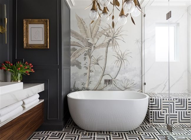 You Guysssssss Thank You For All Your Messages Yesterday My Thumbs Are Sore But My Heart Is Happy Lol I Am So Home Wallpaper Bathroom Decor House Design