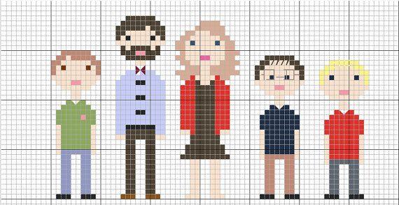 Digital Custom Family Portrait Cross Stitch Pattern