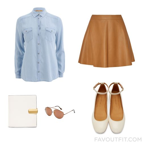 Closet Mix & Match With Boss Orange Top, Mini Skirt, Isabel Marant Flats And Calvin Klein Wallet From April 2016