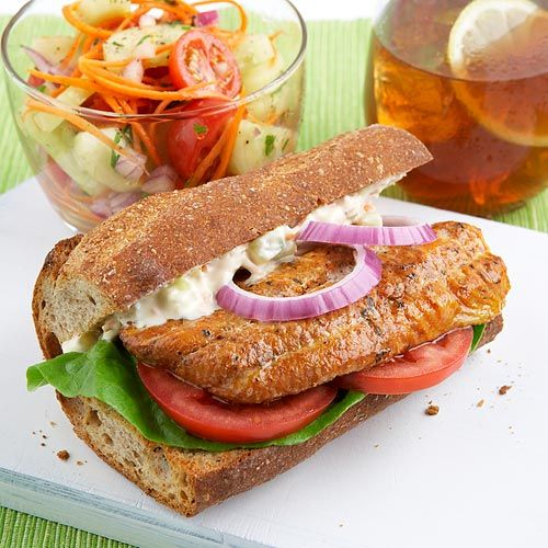 Our Cajun Catfish Po'Boy is a clean take on the traditional N'awlins favorite! Clean Eating: Cajun Catfish, Clean Eating Meals, Catfish Poboy, Po Boys, Eating Clean, Cajuncatfishpoboy Articles, Summer Winter, Meals Plans, Vegetables Salad