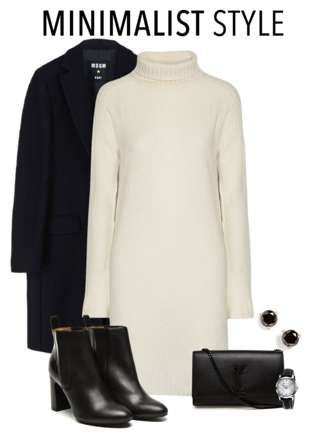 """Chic Minimalist Style"" by alina-n ❤ liked on Polyvore featuring MSGM, Line, Stephane Kélian, Yves Saint Laurent, Kate Spade, Burberry and Minimaliststyle"