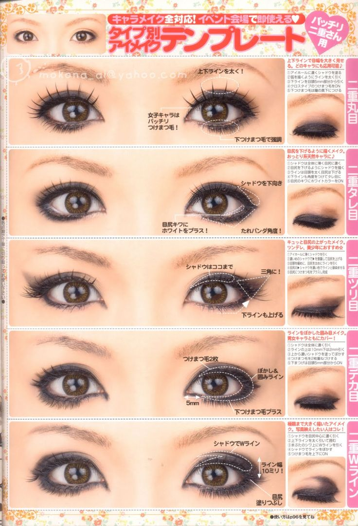 Different Eyeliner And Make Up Techniques For Asian Eyes Asian Eyes Can Be  Hard To Apply Make Up To Here A Few Tips Cosplay Makeup Worth Trying