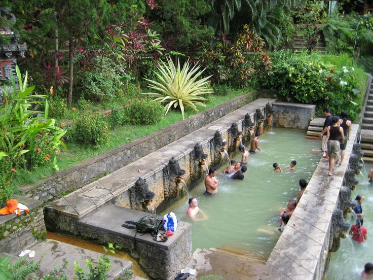 The sacred hot springs 'Air Panas' of Banjar are set in the midst of the jungle in a beautifully landscaped tropical garden, close to Lovina Beach, and it consist of three public and one private pool.