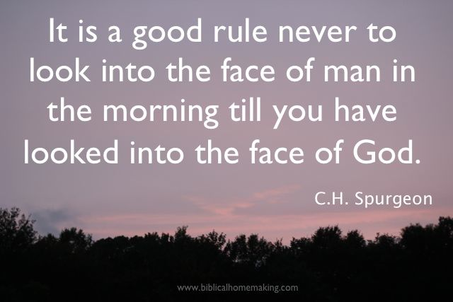 Biblical Homemaking: 5:55 a.m. {a challenge to rise early}