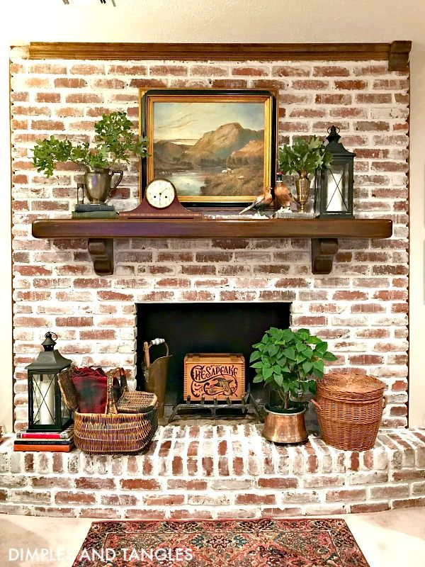 Mortar Wash Brick Fireplace Makeover Brick Fireplace Makeover White Wash Brick Fireplace Brick Fireplace