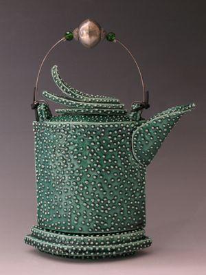 The teapot as a sculptural form.   Artist: Nancy Frazier