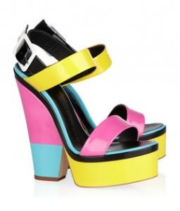Giuseppe Zanotti / Color Block Patent-Leather Sandals: Giuseppezanotti, Shoes, Patent Leather Sandals, Fashion, Giuseppe Zanotti, Colorblock, Colors, Zanotti Color Block, Color Block Patent Leather