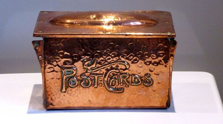 Antique Post card box. I love the font!