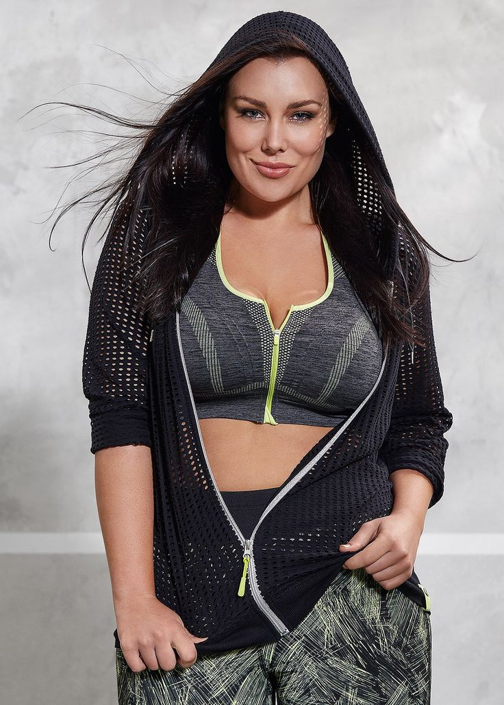 Active wear | plus size activewear - ZIP CROP BRA - TS14