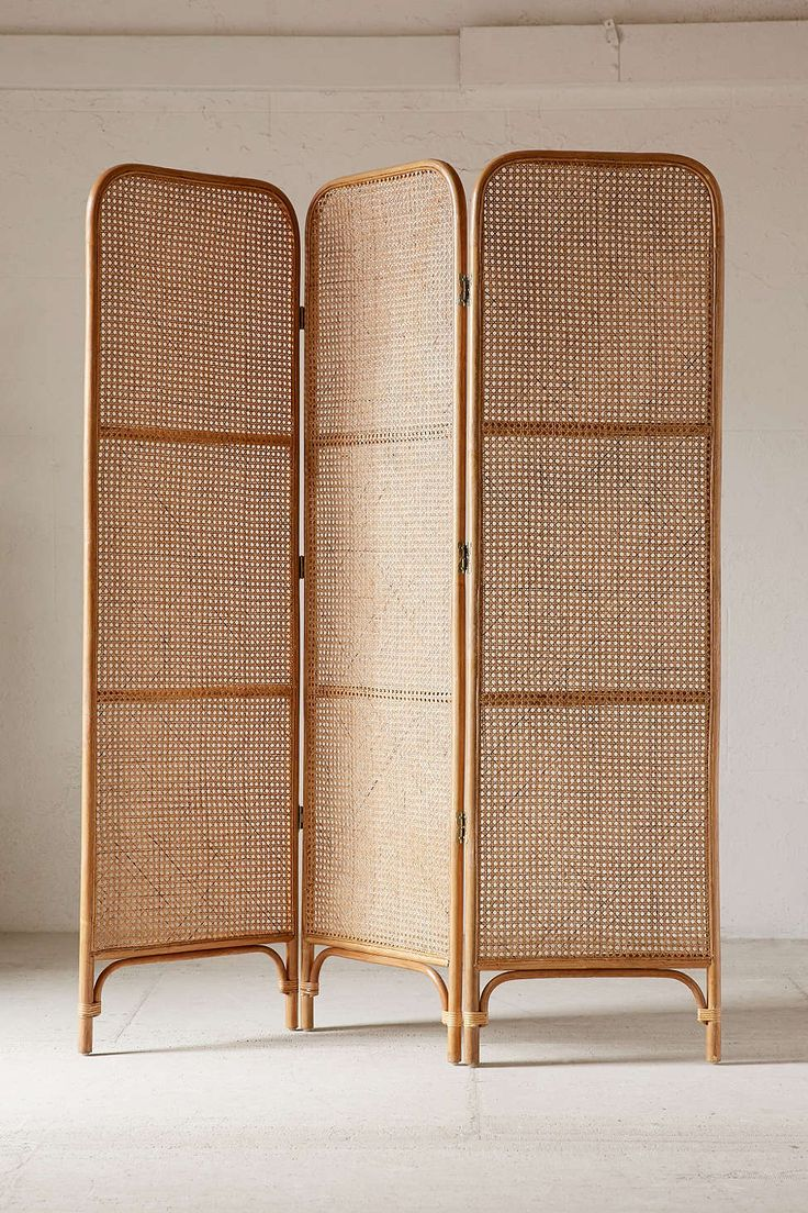 Rattan Screen Room Divider - Urban Outfitters