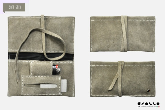 Porta tabacco in pelle made in Italy di PortatabacchiRollo su Etsy, €15.00