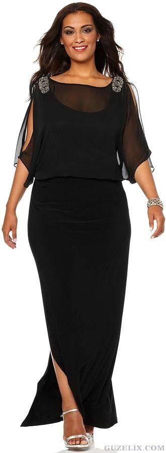 Farklı Tasarımlarda ve en Trend Büyük Beden Abiye Elbise Modelleri