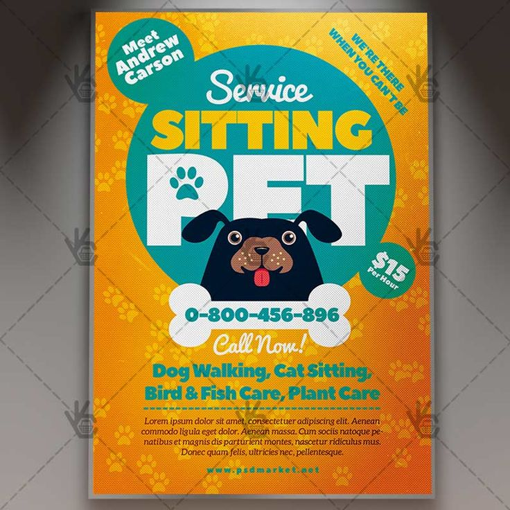 Pet Sitting Flyer - Business PSD Template.  #care #cat #dog #leaflet #lost #pamphlet #paws #pet #petsitting #petsittingflyer #professional #service #services #sitting #walker, #walkers #walking  DOWNLOAD PSD TEMPLATE HERE: https://www.psdmarket.net/shop/pet-sitting-flyer-business-psd-template/  MORE FREE AND PREMIUM PSD TEMPLATES: https://www.psdmarket.net/shop/
