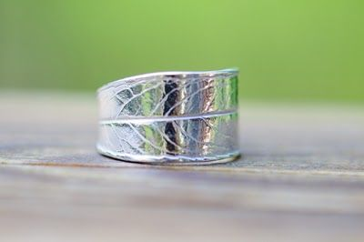 SilverBlueberry: Making a leaf ring with Precious Metal Clay