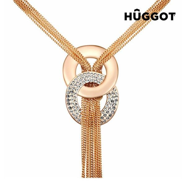 Hûggot Pharaoh 18 Kt Pink Gold-Plated Pendant with Zircons