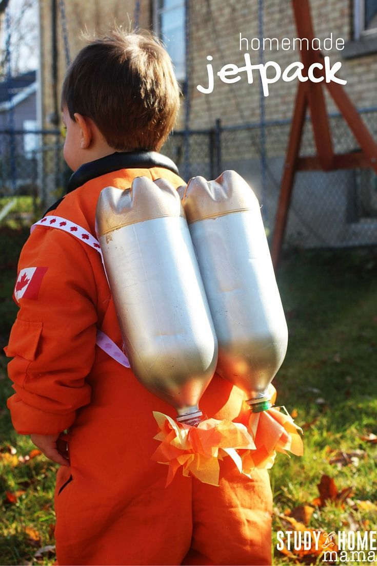 Easy homemade jet pack toy that kids can make. The perfect homemade toy for your budding astronaut that can be whipped together with a few recyclables!