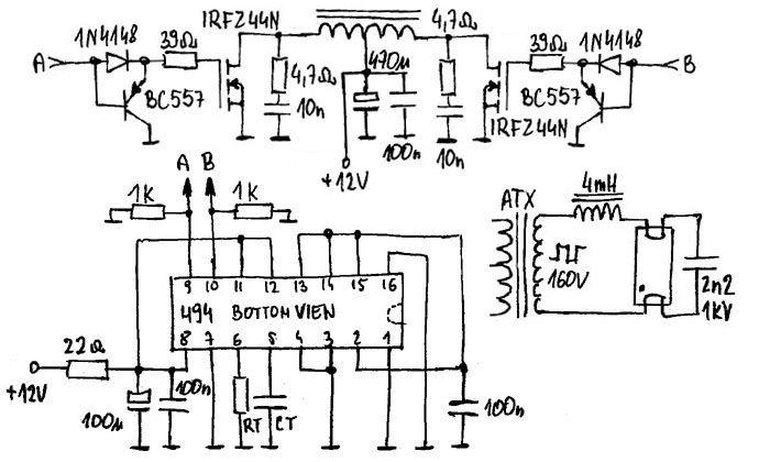 Przetwornica DC/DC 12V/12V na TL494 z separacją galwaniczną
