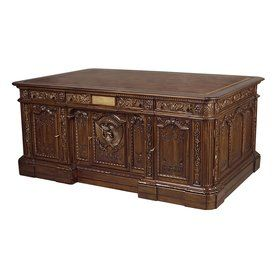 Design Toscano Traditional Antique Brown Executive Desk Af57262