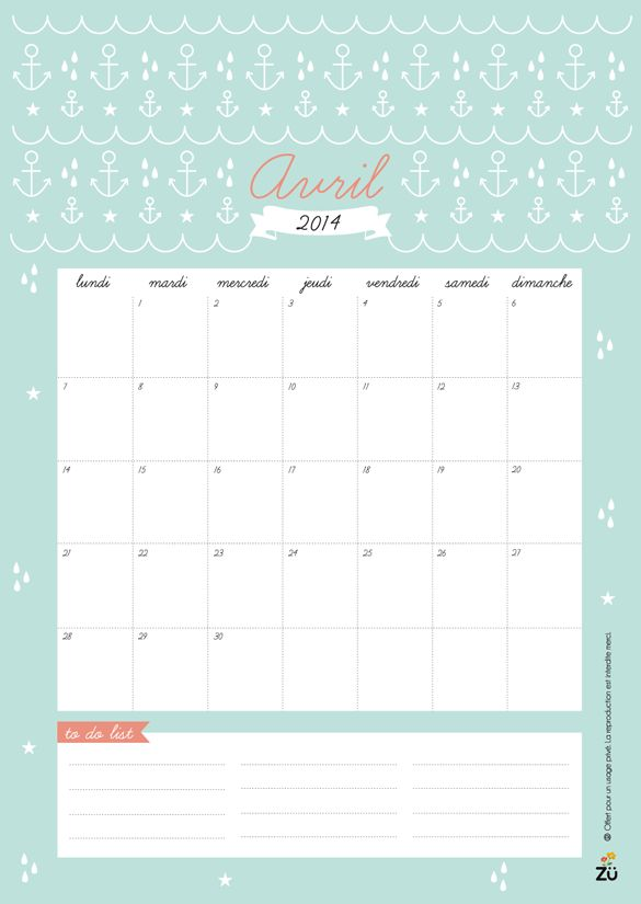 cute french calendar printables and for desktop