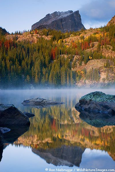 Autumn reflections on Bear Lake, Rocky Mountain National Park, Colorado