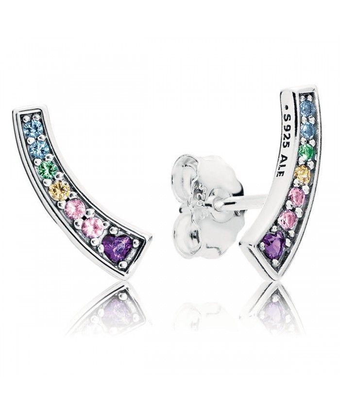 8501c95273ad8 Pandora UK Clearance Sale Multi Color Arches Stud Earrings | Fashion ...