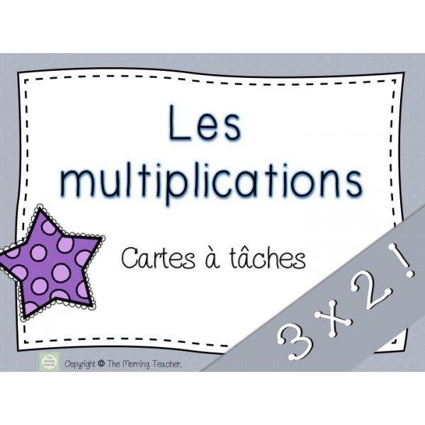 Multiplications Cartes à tâches 3x2 Plus