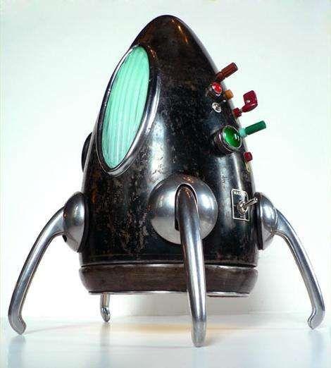 Retro-Futuristic Lighting: John Stephenson's Sculptures Made From Antique Car Parts
