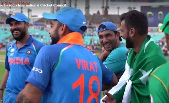 After Champions Trophy final, Yuvraj Singh and Virat Kohli share a light moment with Shoaib Malik; watch video