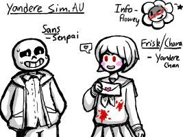 Undertale - Yandere Simulator AU by ep8422 don't ship them ( I like them as a father daughter team ^_^) but this is cool