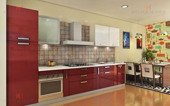 straight line kitchen | Kitchen tiles design, Kitchen ...