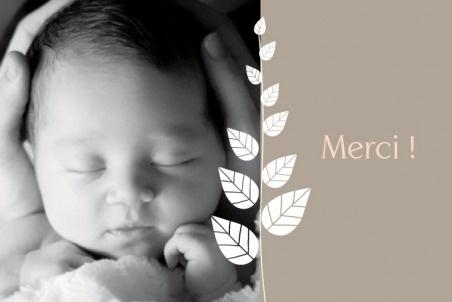 Carte de remerciement (thank you card) : Petit élégance fille RV - by Tomoë  pour http://www.fairepartnaissance.fr #naissance #remerciement #birth