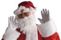 Noel Baba Şapkası, Kaş, Sakal Kostüm Aksesuarları - Taç/Duvak Lüks Noel Baba Seti: Saçlı kukuleta şapka, takma bıyık/sakal ve yapışkanlı kaşlardan oluşur