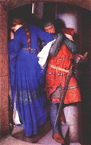 a knight and his fair lady...Guinevere and Lancelot?