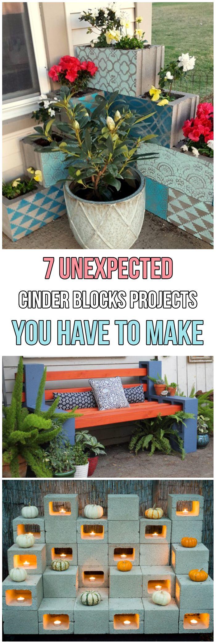 7 Unexpected Cinder Blocks Projects You Have To Make #diy #diyproject #howto #gardendesign #gardenideas #garden #backyard #cinderblocks #bench #handmade ... & 7 Unexpected Cinder Blocks Projects You Have To Make | porch ...