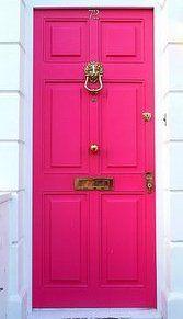 loving the hot pink door!