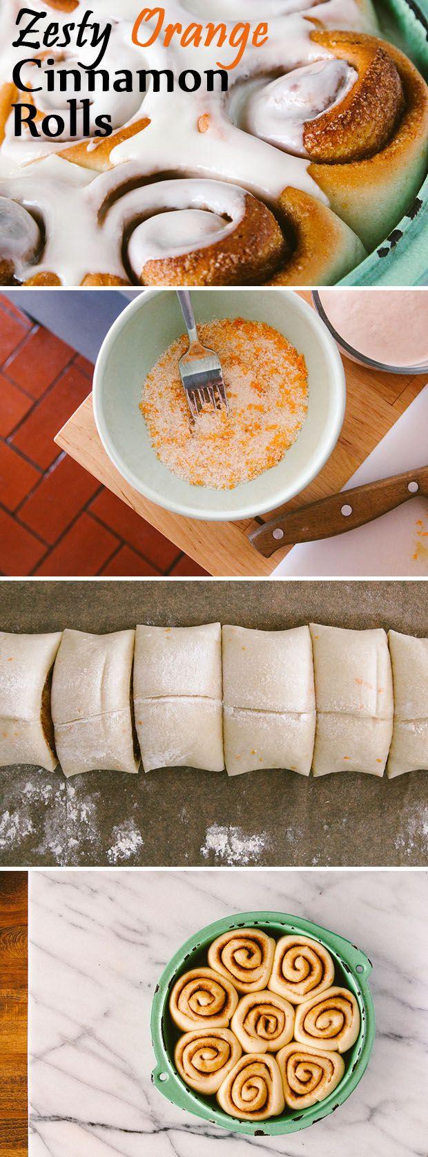 Zest-up your breakfast with these zesty orange cinnamon rolls. YUM.