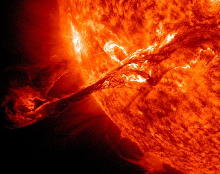 Solar filament eruption of August 31, 2012