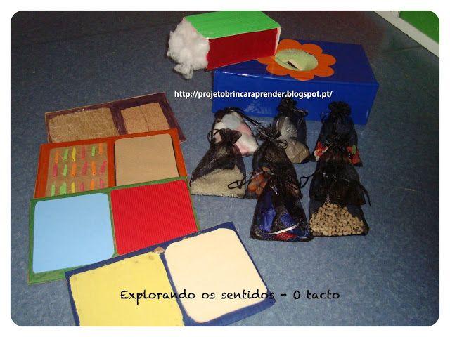 Projeto Brincar e Aprender: Cinco sentidos - O tacto