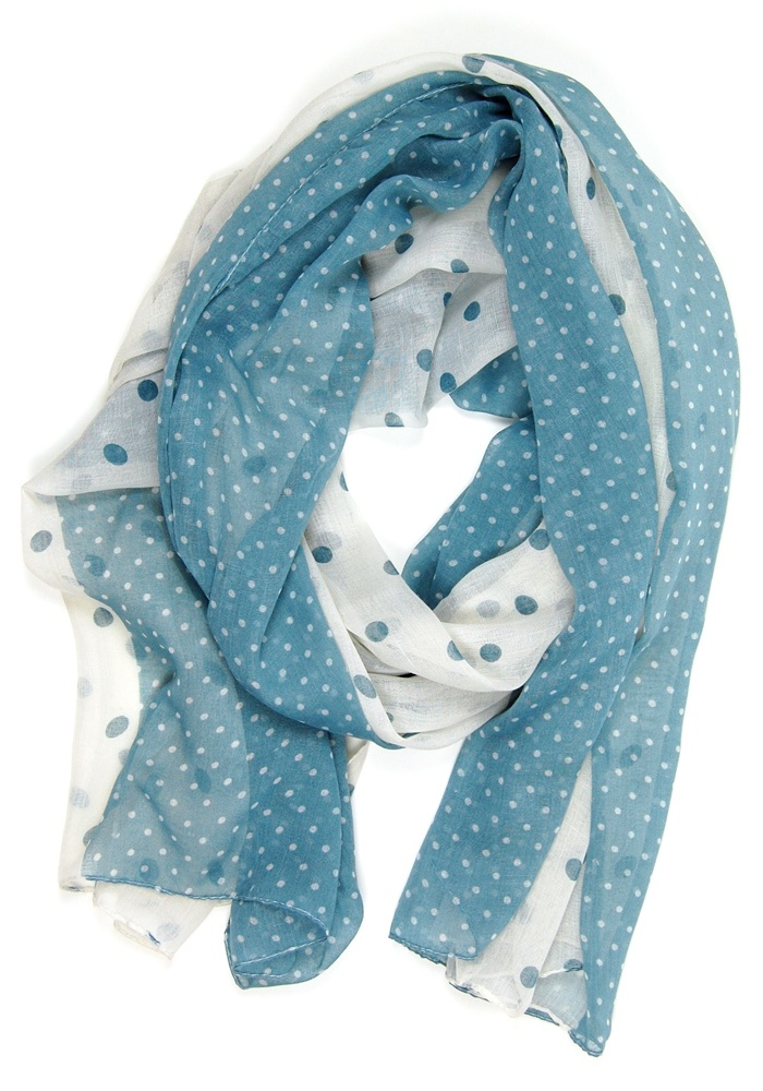 Denim Darling Scarf: Polka Dot [JJ1112054] - $14.99 : Spotted Moth, Chic and sweet clothing and accessories for women