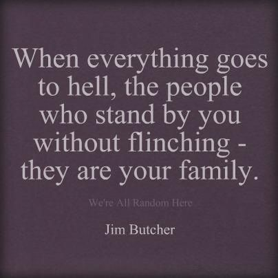 so true. family is not defined by blood. quotes