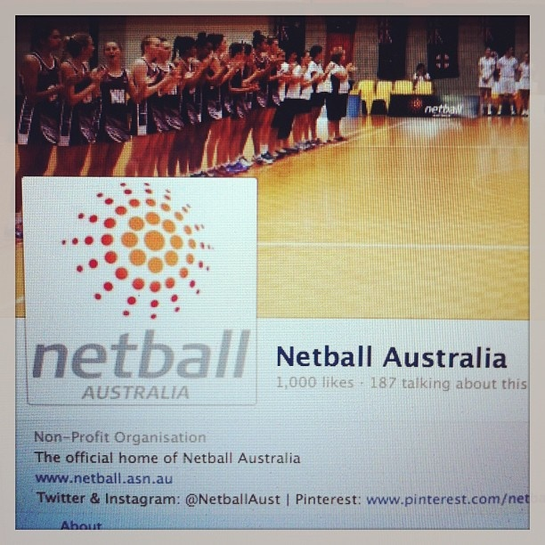 1000 likes on Netball Australia's Facebook page! Thank you to the best netball fans in the world!