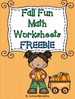 Fall Fun Math Worksheets FREEBIE by Andrea Marchildon.