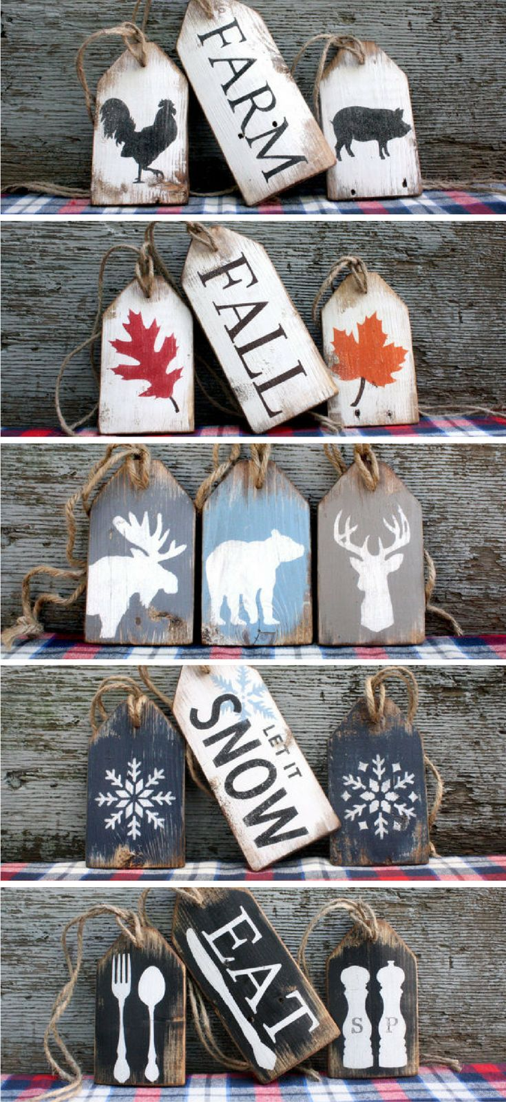 Rustic Wood Tags for all occasions #tags #wood #ad #fall #christmas #farmhouse #snow #moose #eat #deer #bear