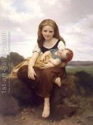 The Elder Sister 1869 by William-Adolphe Bouguereau