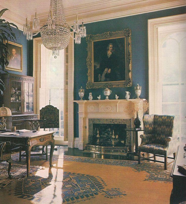 Savannah Interiors | The Library of Mercer House - Savannah Georgia