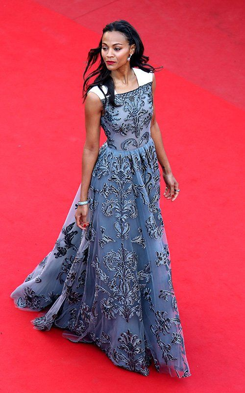 Fabulously Spotted: Zoe Saldana Wearing Valentino - 'Blood Ties' 2013 Cannes Film Festival Premiere - http://www.becauseiamfabulous.com/2013/05/zoe-saldana-wearing-valentino-blood-ties-2013-cannes-film-festival-premiere/