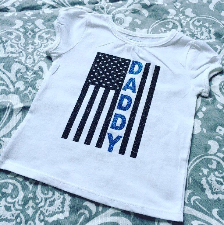 A personal favorite from my Etsy shop https://www.etsy.com/listing/459654022/thin-blue-line-flag-daddy-or-mommy-or