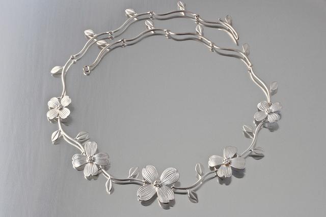 Elise Moran Dogwood Flower Necklace in Sterling