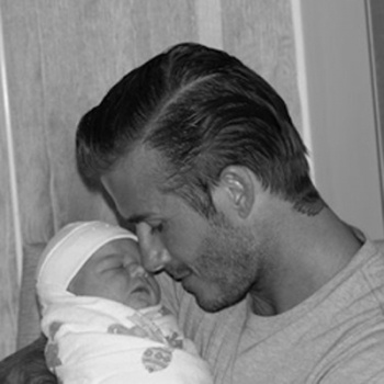 David Beckham and Harper!