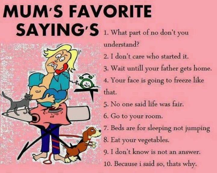 Mumu0027s Favorite Sayingu0027s What